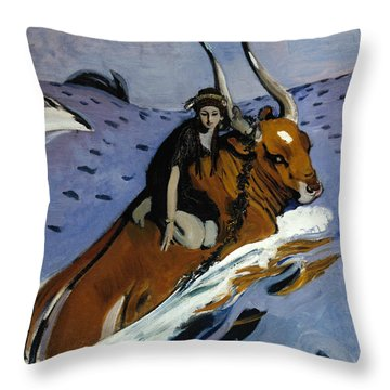 The Rape Of Europa Throw Pillow