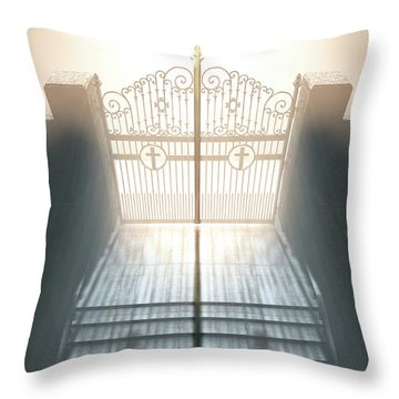 The Stairs To Heavens Gates Throw Pillow