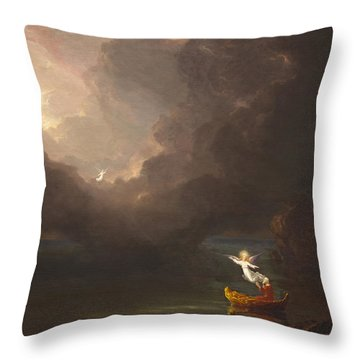 The Voyage Of Life Old Age Throw Pillow