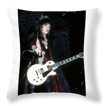 Tom Keifer Of Cinderella Throw Pillow
