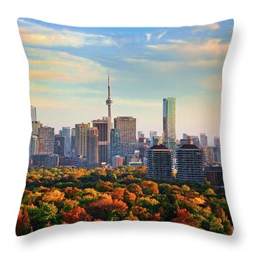 Throw Pillow featuring the photograph Toronto Autumn by Charline Xia