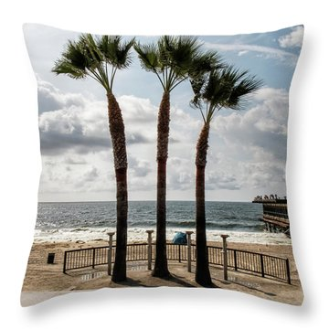 Throw Pillow featuring the photograph 3 Trees by Eric Lake