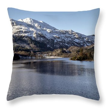 Trossachs Scenery In Scotland Throw Pillow