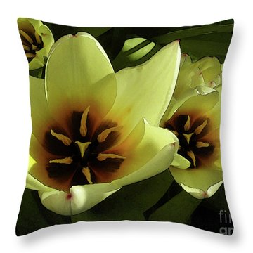 Tulip Lights #4 Throw Pillow by Kim Tran