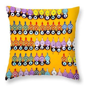 Turkish Eye Souvenirs Throw Pillow