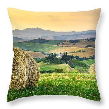 Tuscany Morning Throw Pillow