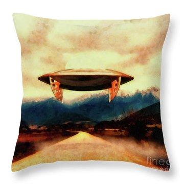 Monster Ufo Throw Pillows