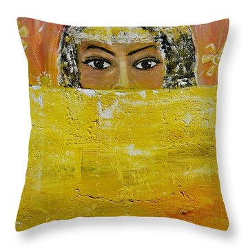 Throw Pillow featuring the painting Untitled by Evelina Popilian