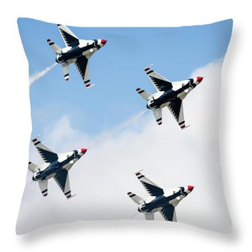 Usaf Thunderbirds Throw Pillow by Lawrence Burry