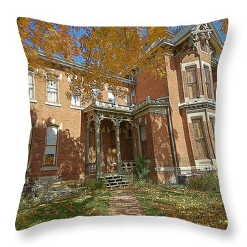 Vaile Mansion Throw Pillow by Liane Wright