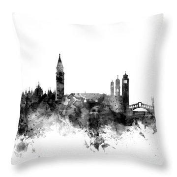 Venice Italy Skyline Throw Pillow