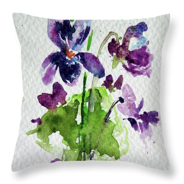 Throw Pillow featuring the painting Violet by Kovacs Anna Brigitta