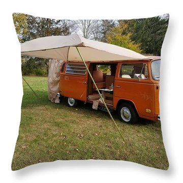 Volkswagen Bus T2 Westfalia Throw Pillow