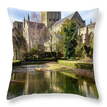 Wells Cathedral Throw Pillow