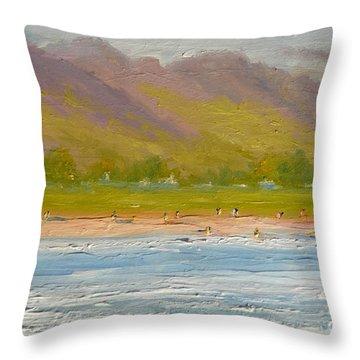 West Maui Mountains Throw Pillow