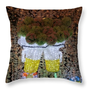 Winter Illumination Throw Pillow