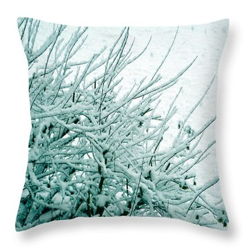 Throw Pillow featuring the photograph Winter Wonderland In Switzerland by Susanne Van Hulst