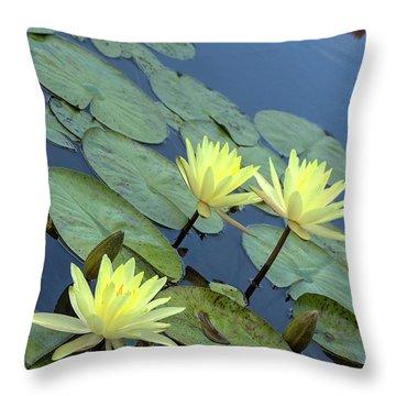 3 Yellow Throw Pillow