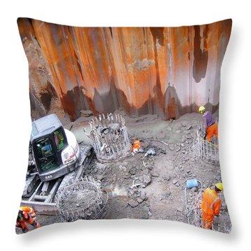 Yury Bashkin Construction Throw Pillow by Yury Bashkin
