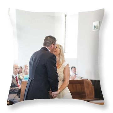 Chris And Jane Throw Pillow by Steven Poulton