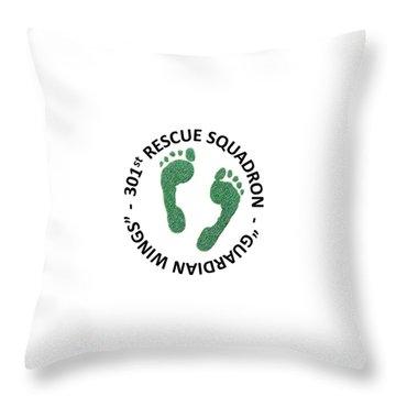 301st Rescue Squadron Throw Pillow