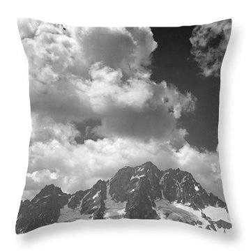 304638 Clouds Over Mt. Stuart Bw Throw Pillow