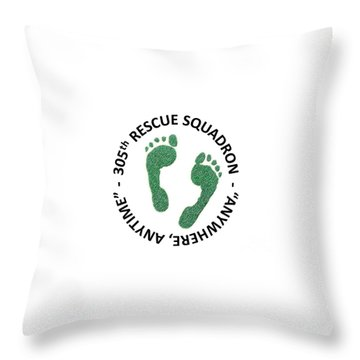 305th Rescue Squadron Throw Pillow