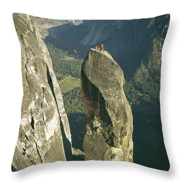 306540 Climbers On Lost Arrow 1967 Throw Pillow