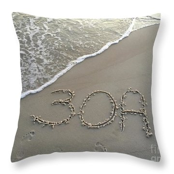 30a Beach Throw Pillow by Megan Cohen