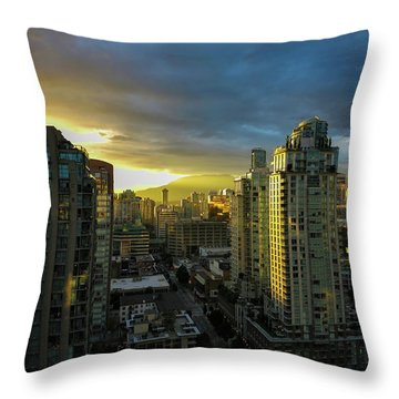 30th Story Throw Pillow