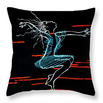 Dinka Dance - South Sudan Throw Pillow