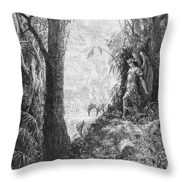 Milton: Paradise Lost Throw Pillow by Granger