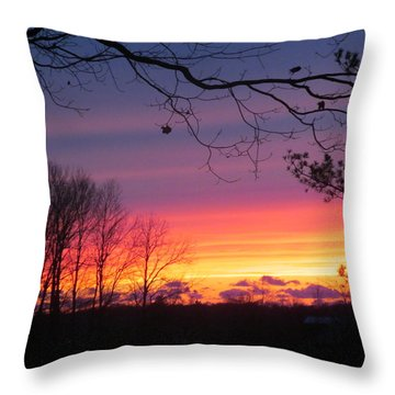 31 Oct 2012 Sunset Two Throw Pillow