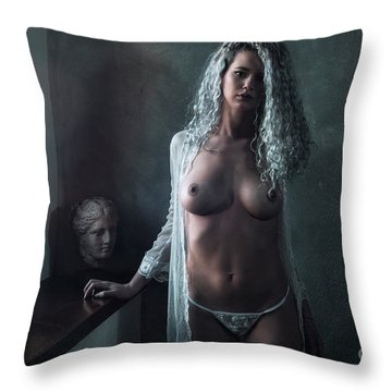 Throw Pillow featuring the photograph Tu M'as Promis by Traven Milovich