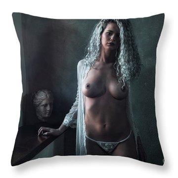 Tu M'as Promis Throw Pillow by Traven Milovich