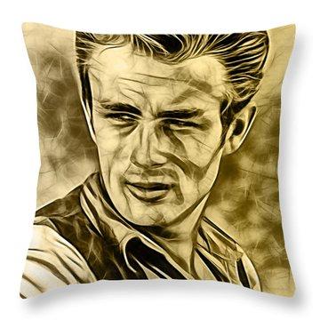 James Dean Collection Throw Pillow