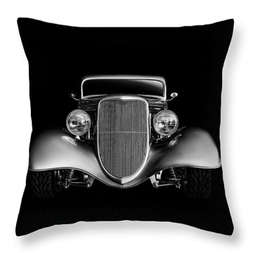 Throw Pillow featuring the digital art '33 Ford Hotrod by Douglas Pittman