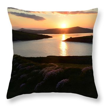 Sunset Dingle Throw Pillow