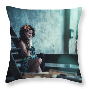 Throw Pillow featuring the photograph ... by Traven Milovich