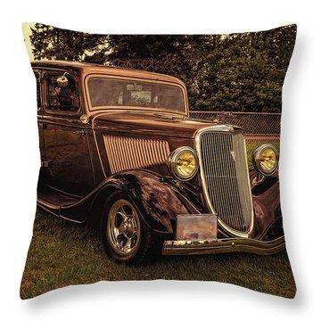 Cool 34 Ford Four Door Sedan Throw Pillow