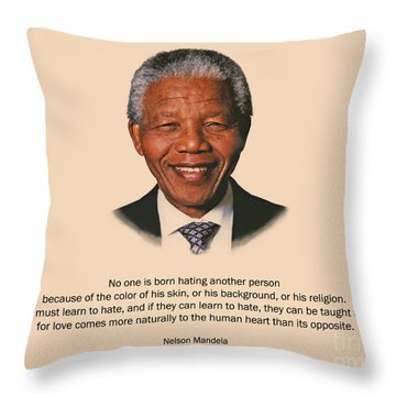 34- No One Is Born Hating Throw Pillow by Joseph Keane