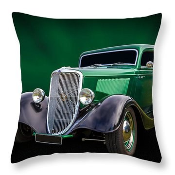 Throw Pillow featuring the photograph 34 Tudor by Keith Hawley