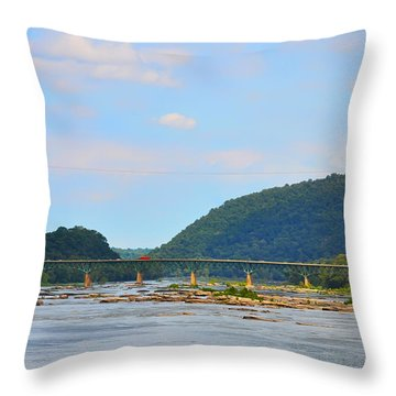 340 Bridge Harpers Ferry Throw Pillow by Bill Cannon
