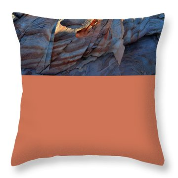 Throw Pillow featuring the photograph Colorful Sandstone In Valley Of Fire by Ray Mathis
