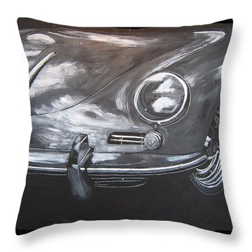 356 Porsche Front Throw Pillow