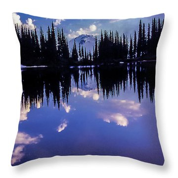 35mm Scan Of Image Lake And Glacier Peak Throw Pillow