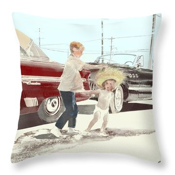 35th St. Palmdale Throw Pillow