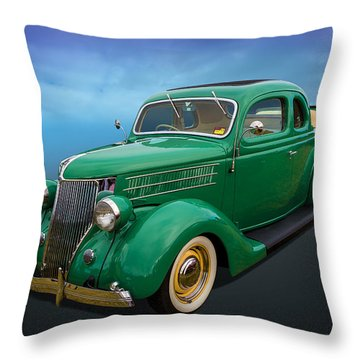 Throw Pillow featuring the photograph 36 Ford by Keith Hawley