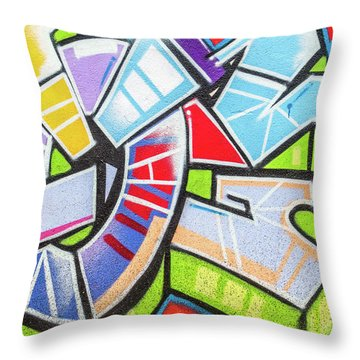 Graffiti Throw Pillow