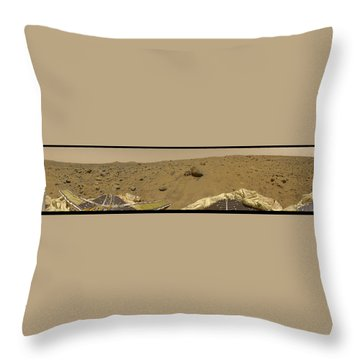 360 Degree Panorama Mars Pathfinder Landing Site Throw Pillow